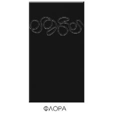 """Кухня """"Адель"""" 1,4 м. МДФ Флора (черный-белый глянец)"""