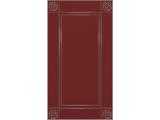 "Кухня ""Жасмин"" 1,2 х 1,4 м. Ривьера МДФ (бордо-ваниль глянец)"