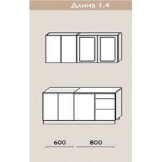 """Кухня """"Оля"""" 1,4 м. МДФ Классика (дуб беленый матовый)"""