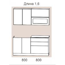 """Кухня """"Адель"""" 1,6 м. МДФ Гармония (жемчуг текстурный матовый)"""
