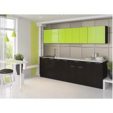 "Кухня ""Лана"" 1,6 м. ЛДСП  (черный-лайм)"