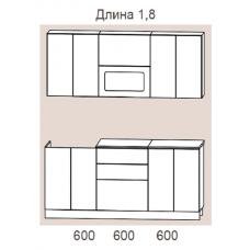 """Кухня """"Адель"""" 1,8 м. МДФ Гармония (жемчуг текстурный матовый)"""