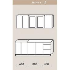"""Кухня """"Оля"""" 1,8 м. МДФ Классика (дуб беленый матовый)"""
