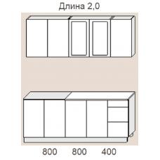 """Кухня """"Оля"""" 2,0 м. МДФ Классика (дуб беленый матовый)"""