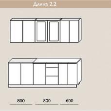 """Кухня """"Оля"""" 2,2 м. МДФ Классика (дуб беленый матовый)"""