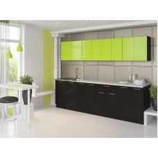 "Кухня ""Лана"" 2,4 м. ЛДСП  (черный-лайм)"