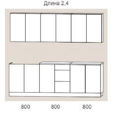 """Кухня """"Оля"""" 2,4 м. ЛДСП (венге-дуб белфорт)"""