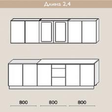 """Кухня """"Оля"""" 2,4 м. МДФ Классика (дуб беленый матовый)"""