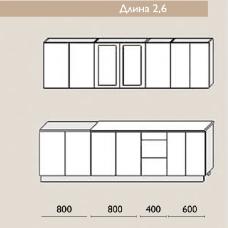 """Кухня """"Оля"""" 2,6 м. МДФ Классика (дуб беленый матовый)"""