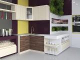 "Кухня ""Жасмин"" 1,2 х 1,4 м. МДФ (слива-ваниль глянец)"