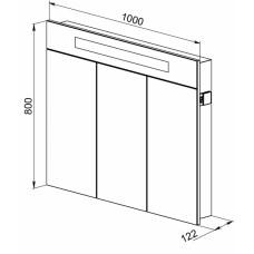 Зеркальный шкаф Латтэ 100 (скоро в продаже)