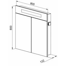 Зеркальный шкаф Латтэ 80 (скоро в продаже)