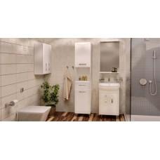 Шкаф-зеркало Аква Родос Декор 55 Белый