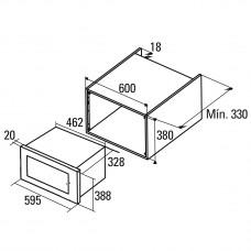 Встраиваемая микроволновая печь CATA MC 20 IX