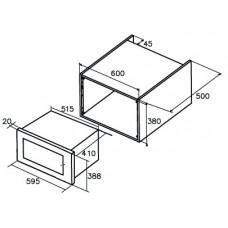 Встраиваемая микроволновая печь CATA MC 25 D ENC