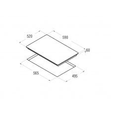 Поверхность варочная индукционная CATA I 6003 BK