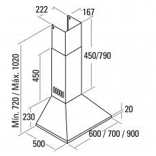 Вытяжка CATA BETA VL3 900 INOX /C