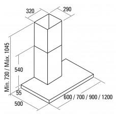 Вытяжка CATA SYGMA VL3 900 BK/C